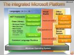 the integrated microsoft platform