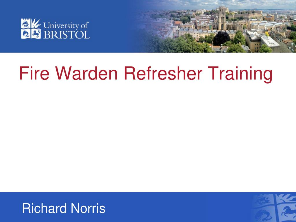fire warden refresher training l.