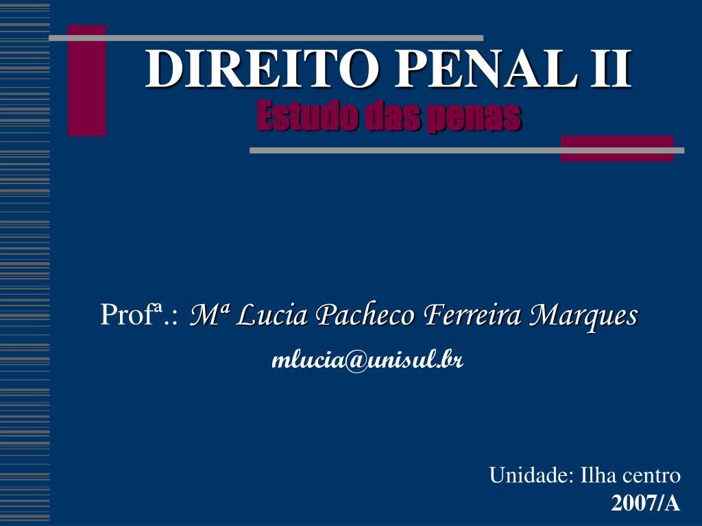 direito penal ii estudo das penas l.