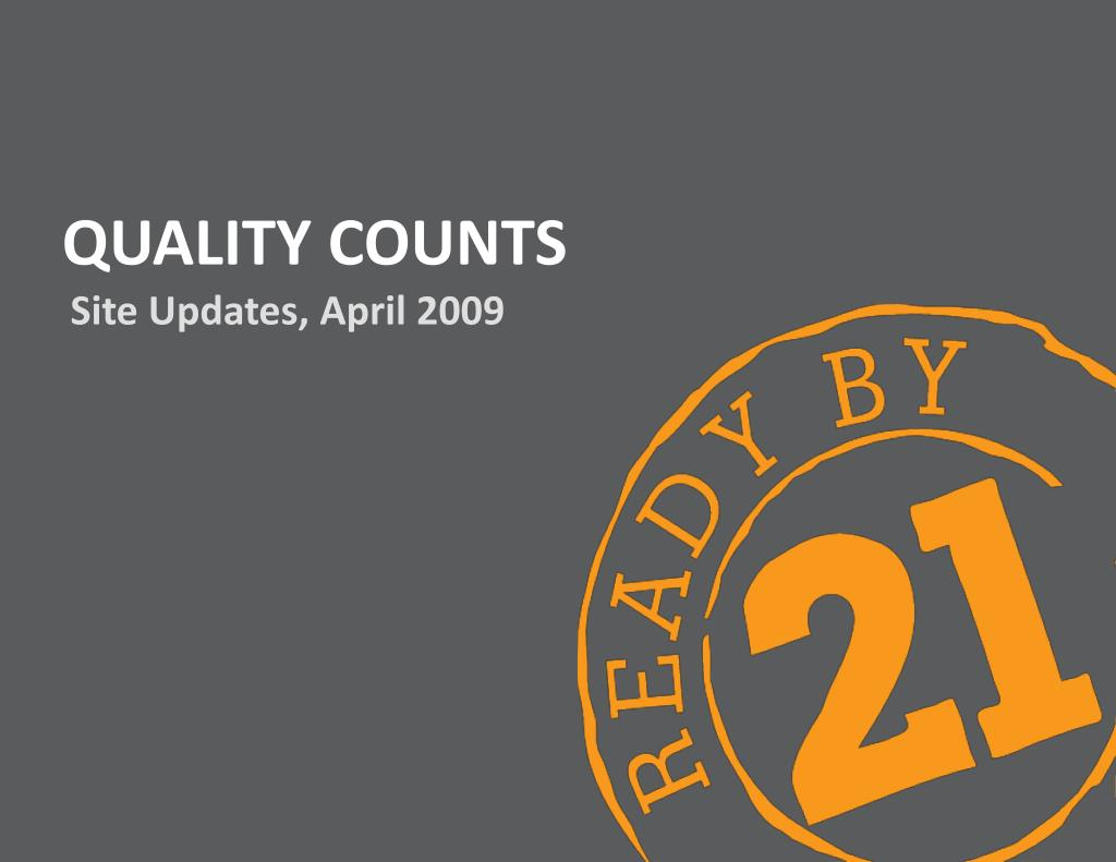 quality counts l.