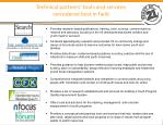 technical partners tools and services considered best in field