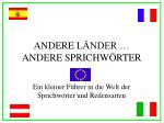 andere l nder andere sprichw rter