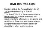 civil rights laws10