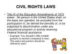 civil rights laws9