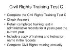 civil rights training test c