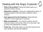 dealing with the angry customer