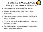 service excellence how you can make a difference