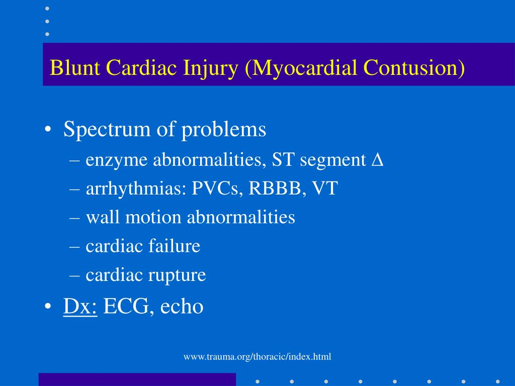 Blunt Cardiac Injury (Myocardial Contusion)