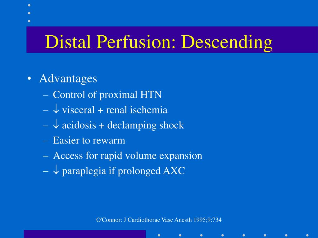 Distal Perfusion: Descending