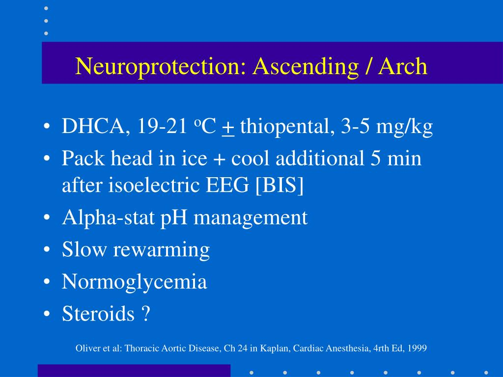 Neuroprotection: Ascending / Arch