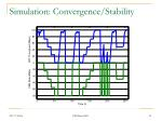 simulation convergence stability