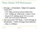 trans atlantic tcp performance