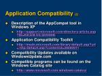 application compatibility 2