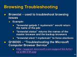 browsing troubleshooting