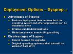 deployment options sysprep 2