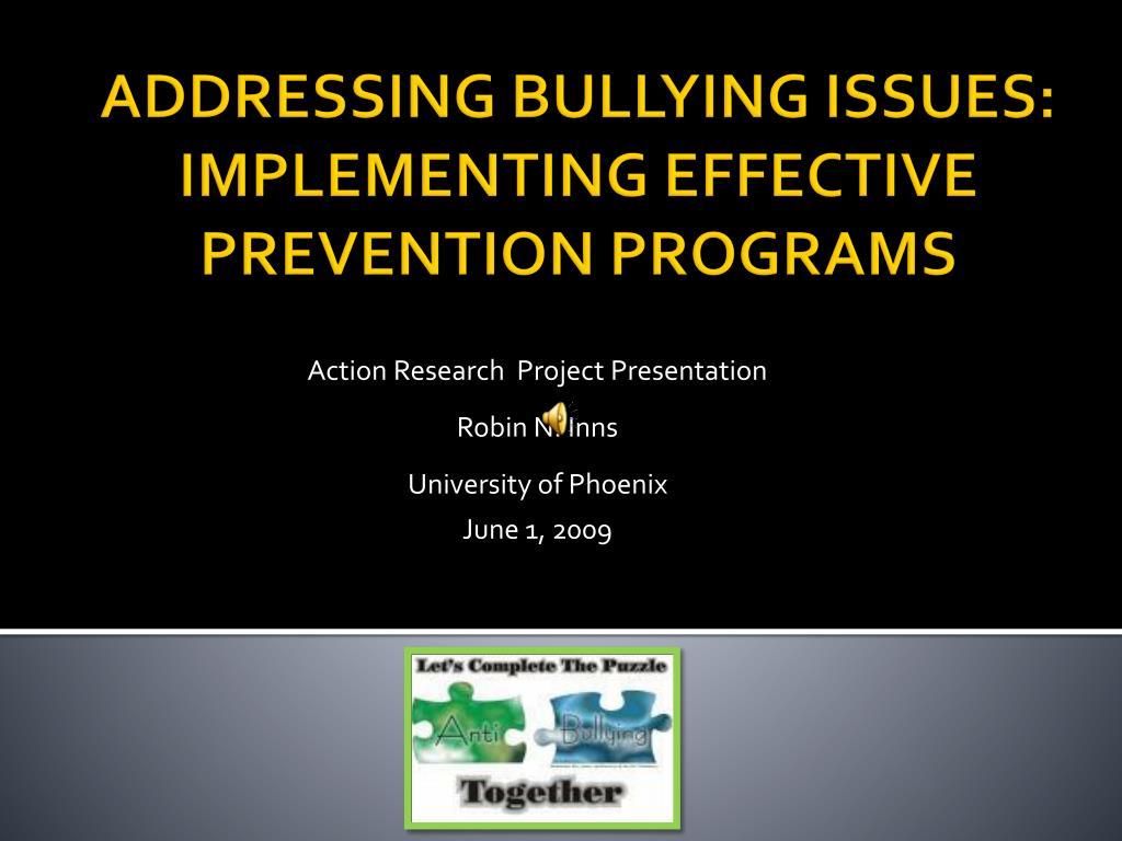 action research project presentation robin n inns university of phoenix june 1 2009 l.