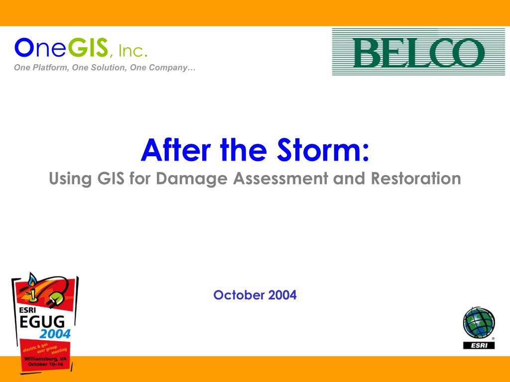 after the storm using gis for damage assessment and restoration l.
