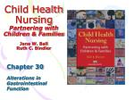 child health nursing partnering with children families