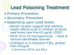lead poisoning treatment