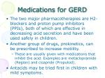 medications for gerd