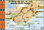 sa energy map gas oil coal selected mintek projects