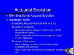 actuarial evolution