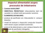 impactul alimentatiei asupra procesului de imbatranire
