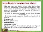 ingrediente in produse fara gluten