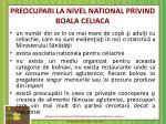 preocupari la nivel national privind boala celiaca