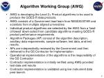 algorithm working group awg