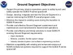 ground segment objectives