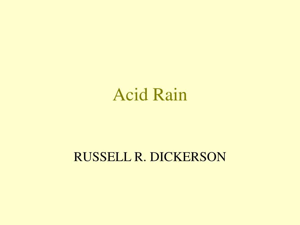 acid rain l.