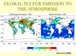 global sulfur emission to the atmosphere 1990 annual mean