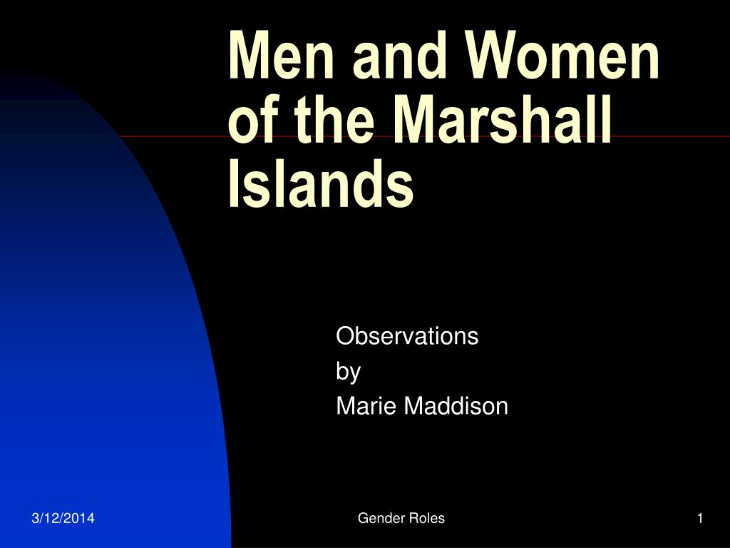 men and women of the marshall islands l.