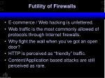 futility of firewalls