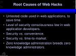root causes of web hacks34