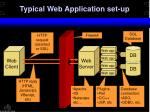 typical web application set up