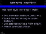 web hacks net effects