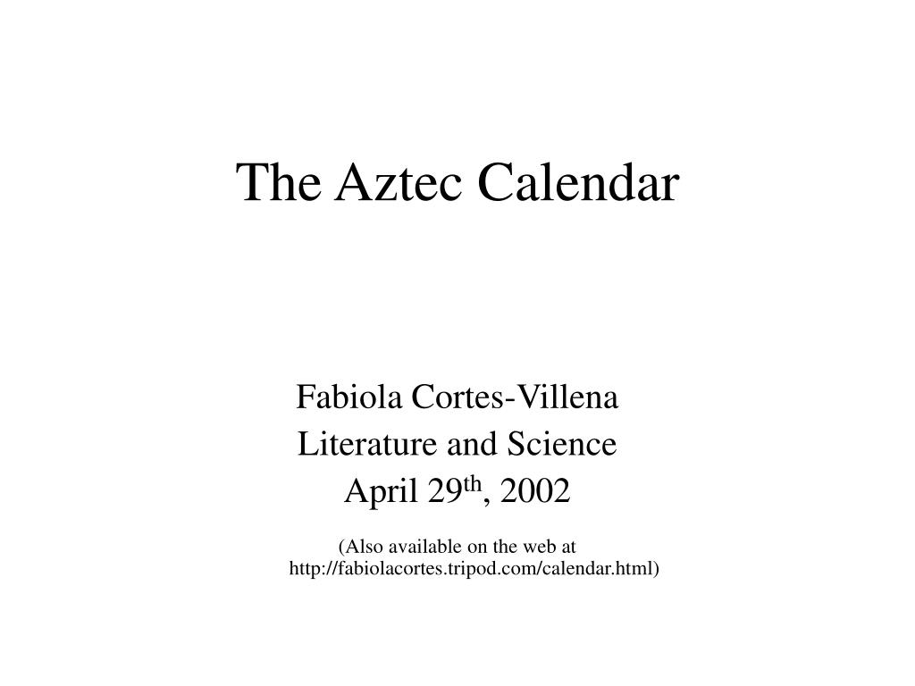 the aztec calendar l.