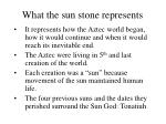 what the sun stone represents