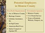 potential employers in monroe county