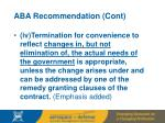 aba recommendation cont41