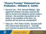 illusory promise esteemed law professors williston corbin