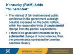kentucky ram adds substantial