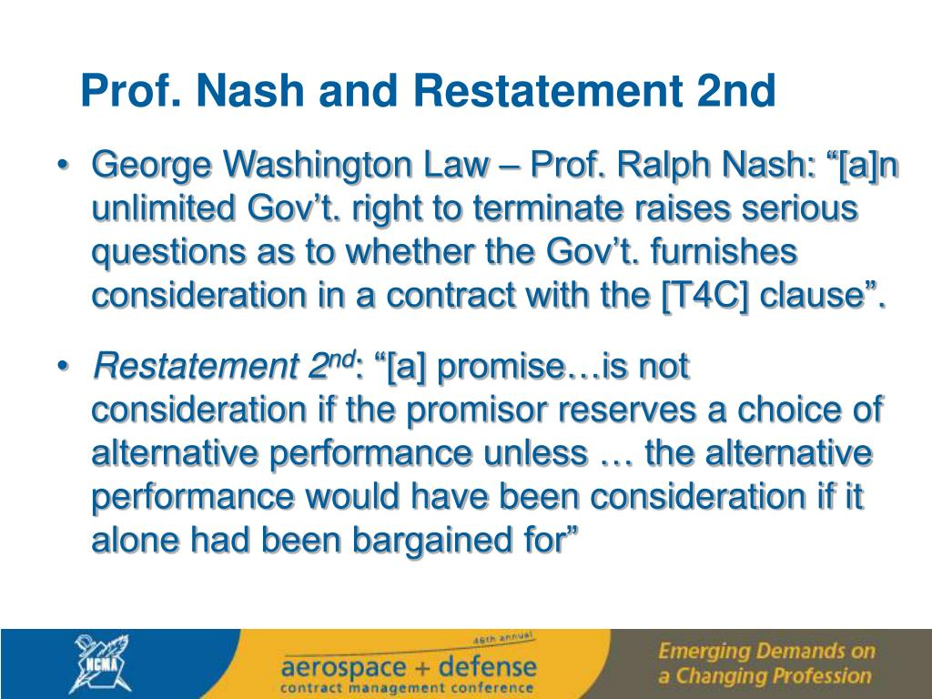 Prof. Nash and Restatement 2nd
