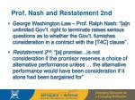 prof nash and restatement 2nd