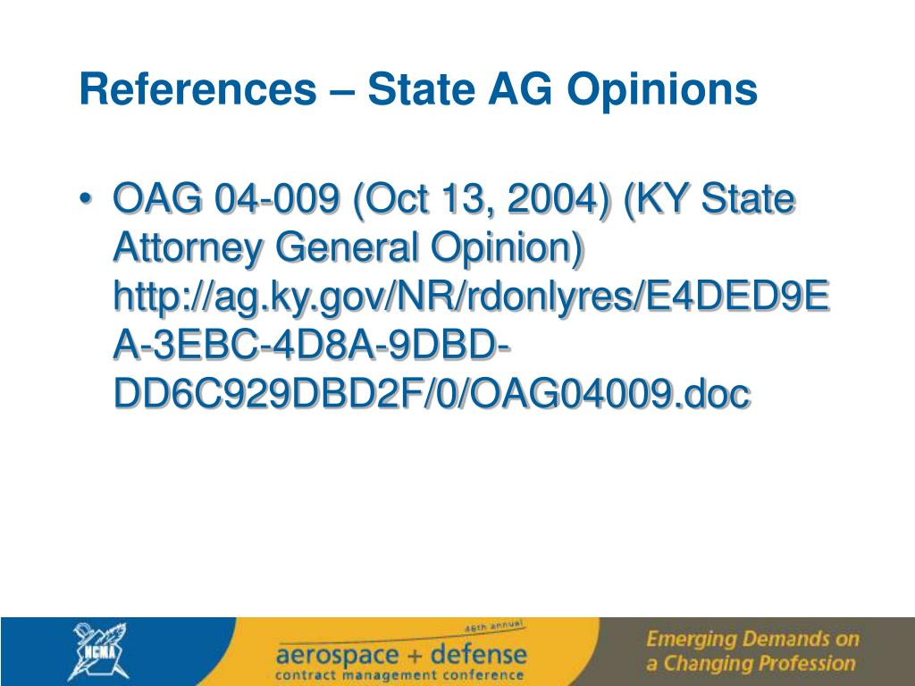 References – State AG Opinions