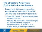 the struggle to achieve an equitable contractual balance