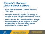 torncello s change of circumstances standard