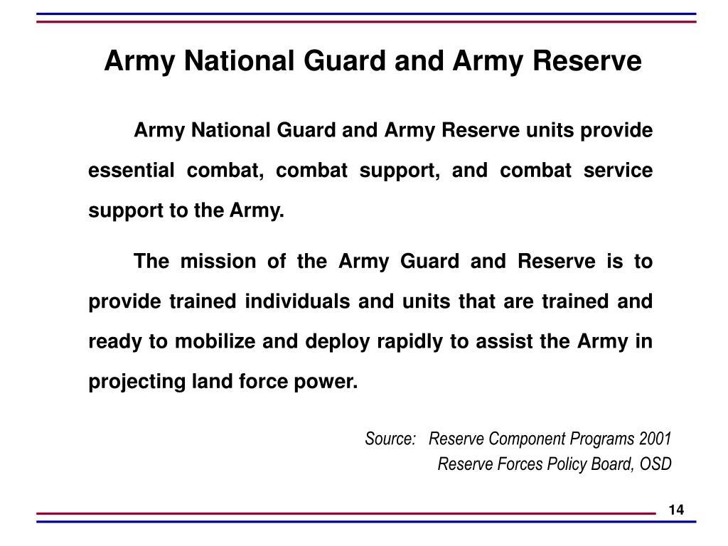 PPT - Reserve Components - Total Force U S  Army Civil Affairs U S